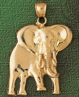Elephant Charm Bracelet or Pendant Necklace in Yellow, White or Rose Gold DZ-2346 by Dazzlers