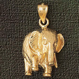 Elephant Charm Bracelet or Pendant Necklace in Yellow, White or Rose Gold DZ-2350 by Dazzlers