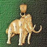 Elephant Charm Bracelet or Pendant Necklace in Yellow, White or Rose Gold DZ-2354 by Dazzlers