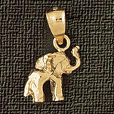 Elephant Charm Bracelet or Pendant Necklace in Yellow, White or Rose Gold DZ-2363 by Dazzlers