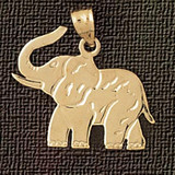 Elephant Charm Bracelet or Pendant Necklace in Yellow, White or Rose Gold DZ-2369 by Dazzlers