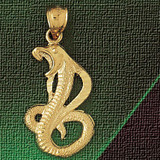 Snake Charm Bracelet or Pendant Necklace in Yellow, White or Rose Gold DZ-2418 by Dazzlers