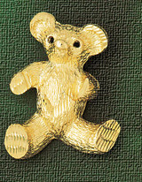 Teddy Bear Charm Bracelet or Pendant Necklace in Yellow, White or Rose Gold DZ-2446 by Dazzlers