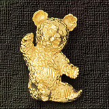 Teddy Bear Charm Bracelet or Pendant Necklace in Yellow, White or Rose Gold DZ-2448 by Dazzlers