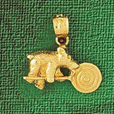 Teddy Bear Charm Bracelet or Pendant Necklace in Yellow, White or Rose Gold DZ-2473 by Dazzlers
