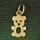 Teddy Bear Charm Bracelet or Pendant Necklace in Yellow, White or Rose Gold DZ-2501 by Dazzlers