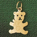 Teddy Bear Charm Bracelet or Pendant Necklace in Yellow, White or Rose Gold DZ-2504 by Dazzlers