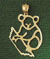 Koala Charm Bracelet or Pendant Necklace in Yellow, White or Rose Gold DZ-2524 by Dazzlers