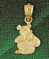 Koala Charm Bracelet or Pendant Necklace in Yellow, White or Rose Gold DZ-2526 by Dazzlers