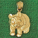 Bear Charm Bracelet or Pendant Necklace in Yellow, White or Rose Gold DZ-2535 by Dazzlers