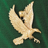 Flying Eagle Charm Bracelet or Pendant Necklace in Yellow, White or Rose Gold DZ-2776 by Dazzlers