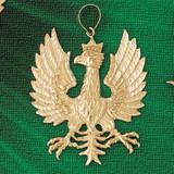 Flying Eagle Charm Bracelet or Pendant Necklace in Yellow, White or Rose Gold DZ-2785 by Dazzlers