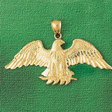 Eagle Charm Bracelet or Pendant Necklace in Yellow, White or Rose Gold DZ-2801 by Dazzlers