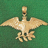 Eagle Charm Bracelet or Pendant Necklace in Yellow, White or Rose Gold DZ-2808 by Dazzlers