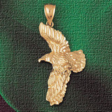 Flying Eagle Pendant Necklace Charm Bracelet in Gold or Silver 2840