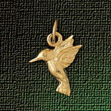 Hummingbird Pendant Necklace Charm Bracelet in Gold or Silver 3036