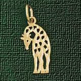 Giraffe Charm Bracelet or Pendant Necklace in Yellow, White or Rose Gold DZ-2655 by Dazzlers