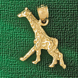 Giraffe Charm Bracelet or Pendant Necklace in Yellow, White or Rose Gold DZ-2658 by Dazzlers