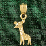 Giraffe Charm Bracelet or Pendant Necklace in Yellow, White or Rose Gold DZ-2659 by Dazzlers