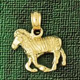Zebra Pendant Necklace Charm Bracelet in Gold or Silver 2584