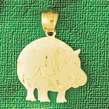Hippo Pendant Necklace Charm Bracelet in Gold or Silver 2603