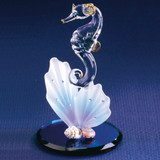 Sea Horse & Shell Glass Figurine GL3728