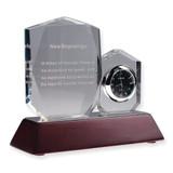 New Beginnings Crystal Inspiration & Desk Clock GL3813