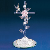 Cross with Hummingbird Glass Figurine GL888