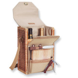 Willow and Natural Canvas Insulated Wine and Cheese Tote GL9080
