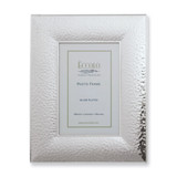Silver-plated Hammered 5 x 7 Inch Picture Frame GM1007