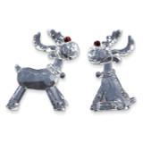 2-Piece Acrylic Reindeer Figurine Set GM10543