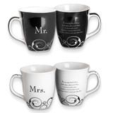 Common Grounds 16 oz Mr. & Mrs. Stoneware Mug Set GM11008