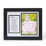 First Granddaughter Poem Black Picture Frame Holds 5x7 Photo GM11402