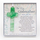 Made Like You Godmother Green Cross with Ribbon GM11412