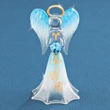 Blue Angel with Crystal Glass Figurine GM1154