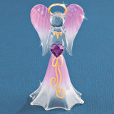 Lavender Angel with Crystal Glass Figurine GM1155