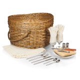 Willow Wedding Heart Picnic Basket with Ivory Lining GM12005