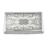 Silver-tone (Holds 10-120mm) Cigarette Card Case with Mirror GM12308