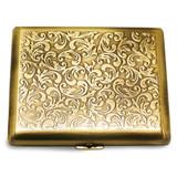 Antique Gold-tone (Holds 20) Cigarette Card Case GM12312