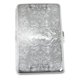 Silver-tone (Holds 16) Cigarette Card Case GM12317