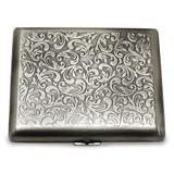 Silver-tone (Holds 20) Cigarette Card Case GM12319