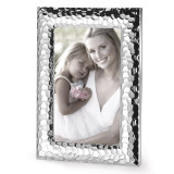 Silver-plated Hammered Metal 8 x 10 Inch Picture Frame GM12830