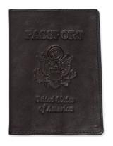 Black Leather Passport Cover GM1850