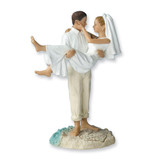 Just Married Beach Couple Figurine Cake Topper GM1979
