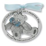 Blue Epoxy Teddy Bear Crib Medal GM4171