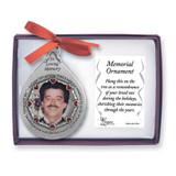 Memorial Photo Ornament - Him GM4176