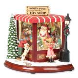 8In Santas North Pole Toy Shop Musical Figurine GM5861