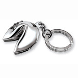 Nickel-plated Fortune Cookie Key Chain GM599