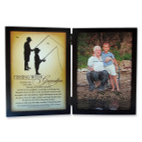 Fishing with Grandpa Sentiment 5 x 7 Inch Black Picture Frame GM6047