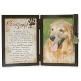 Pawprints Sentiment 5 x 7 Inch Black Picture Frame with Tag GM6062